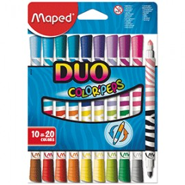 MARCADORES MAPED DUO PEPS 10X20