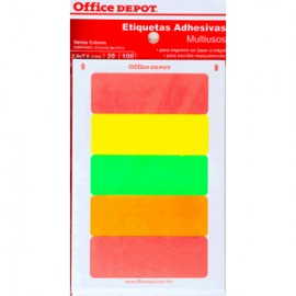 ETIQUETAS RECTANGULARES OFFICE DEPOT 2.5X7.6 C/100