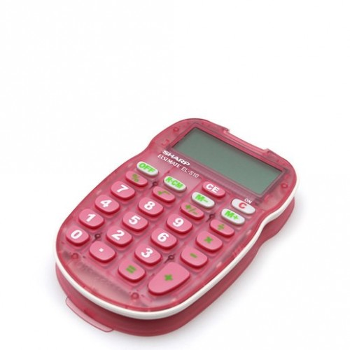 CALCULADORA BASICA SHARP ROSA ELS10BP