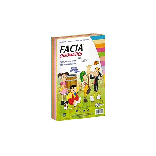 PAPEL CHROMATICS 10 COLORES CON 250 FACIA