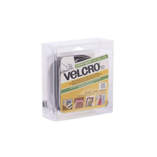 VELCRO STICKY BACK NEGRO ROLLO 19MM X 4M