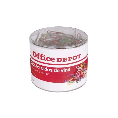 CLIPS DE COLORES OFFICE DEPOT JUMBO Y ESTANDAR