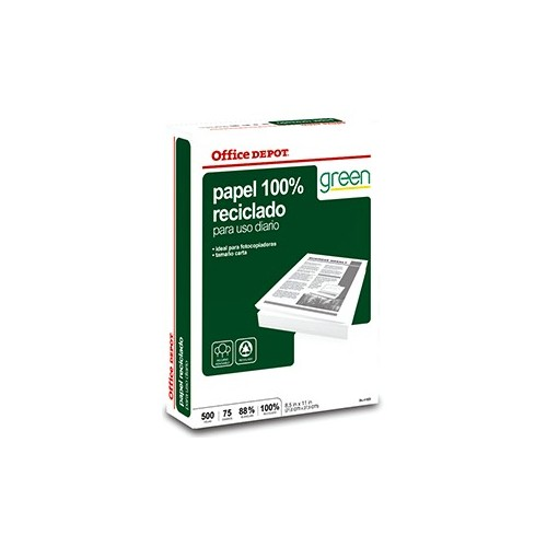 RESMA PAPEL RECICLADO 100 OFFICE DEPOT CARTA