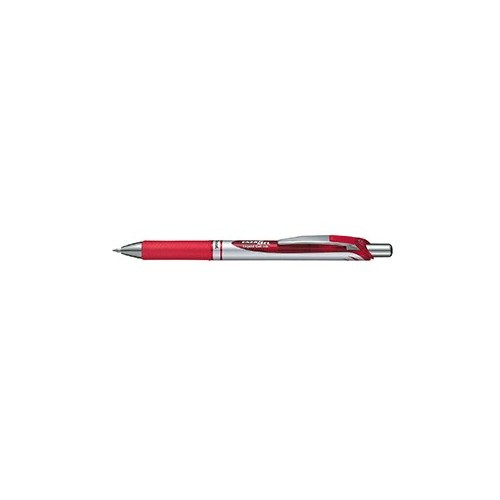 PLUMA PENTEL RETRACTIL ENERGEL PUNTO FINO ROJO
