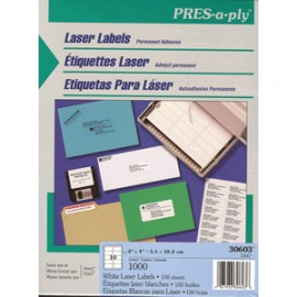 ETIQUETA LASER PRESS PLY 2X4 AVERY CON 100 PIEZAS