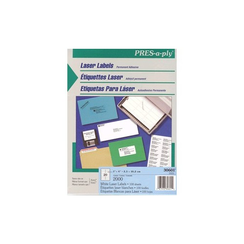 ETIQUETAS PRESS-PLY AVERY CON 2000 DE 1X4