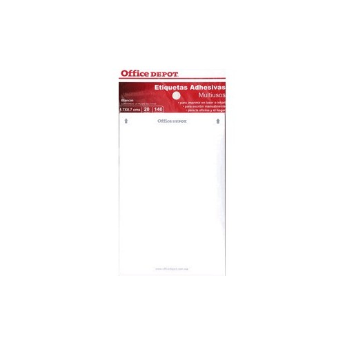ETIQUETAS RECTANGULARES OFFICE DEPOT BLANCA