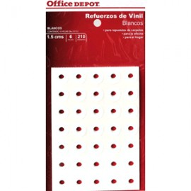 REFUERZOS PARA CARPETA OFFICE DEPOT BLANCO C/210