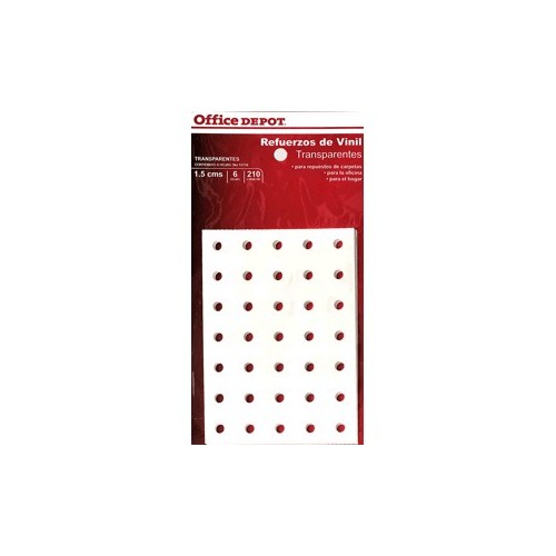REFUERZOS PARA CARPETA OFFICE DEPOT TRANSPAR C/210