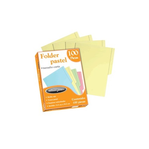 FOLDER CARTA ACCO AMARILLO CON 100 PIEZAS