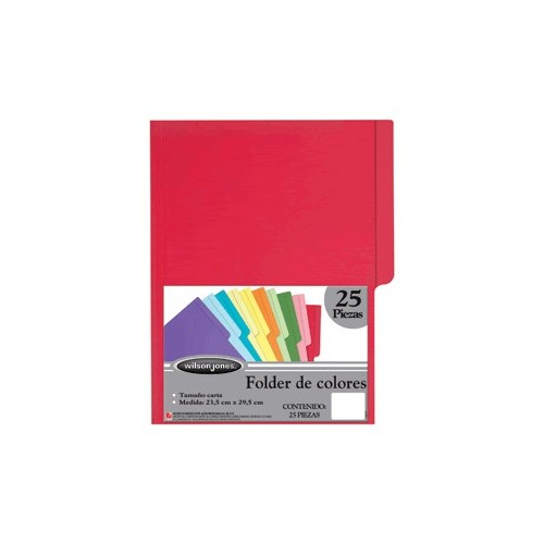 FOLDER CARTA WILSON JONES ROJO CON 25 PIEZAS