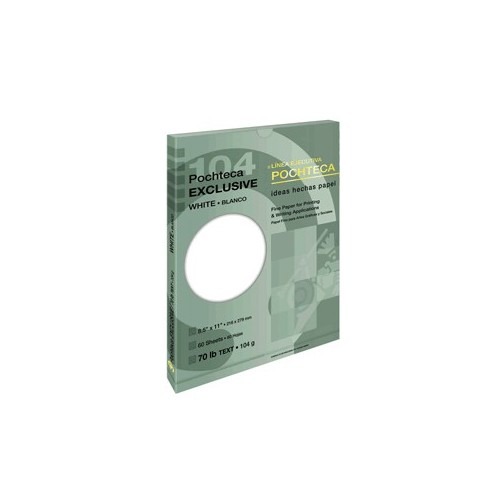 PAPEL EXCLUSIVE BLANCO CARTA CON60 104 GR POCHTECA