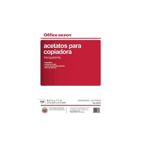 ACETATO PARA COPIADORA AOD CP OFFICE DEPOT CON 100