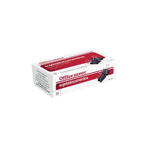 SUJETADOCUMENTOS 3/4 (19MM) 12 PACK OFFICE DEPOT