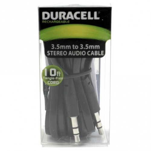 CABLE AUDIO 3.5MM 3M DURACELL - Envío Gratuito