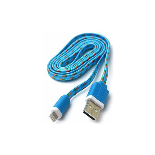 CABLE USB A LIGHTNING SPECTRA (1 MT, FLAT TEJIDO) - Envío Gratuito