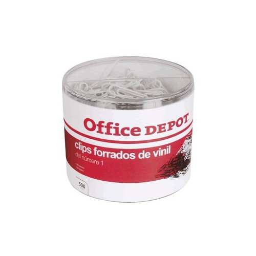 CLIPS BLANCO Y NEGRO 500PZ ESTANDAR OFFICE DEPOT