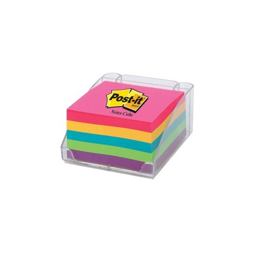 POST-IT CUBO 3 X 3 NEON 390 HOJAS CON PORTANOTAS