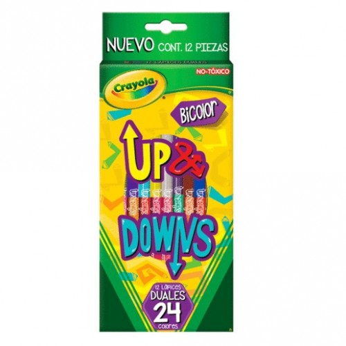 CAJA DE COLORES CRAYOLA DUALES UP AND DOWNS